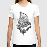 Hidden Gate Womens Fitted Tee White SMALL