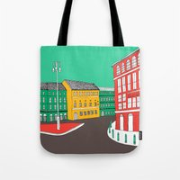 City Life // European Architecture Tote Bag