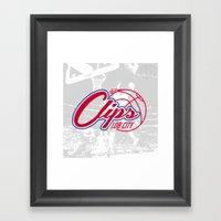 Clips Lob City Framed Art Print