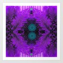 Some greens in the purple Art Print