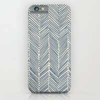 Freeform Arrows in navy iPhone 6 Slim Case