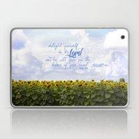 Sunflower Delight - Psal… Laptop & iPad Skin