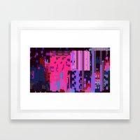 Taintedcanvasmosh1 Framed Art Print