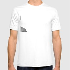 Peak-a-Boo Mens Fitted Tee SMALL White