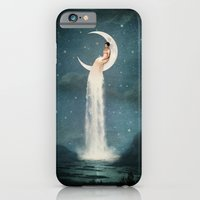 lady iPhone & iPod Cases featuring Moon River Lady by Paula Belle Flores