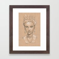 Pencil Study Framed Art Print