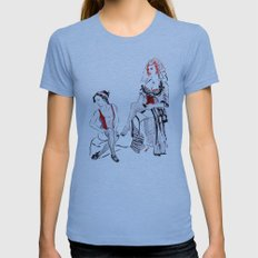Cabaret Cafe Womens Fitted Tee Athletic Blue SMALL
