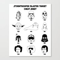 Stormtrooper Blaster Target Cheat Sheet Canvas Print