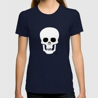 EYE SKULL Womens Fitted Tee Navy SMALL