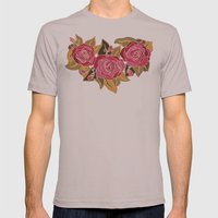 With The Roses Mens Fitted Tee Cinder SMALL