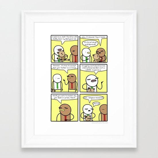Antics #345 - family matters Framed Art Print