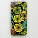 Retro flowers and leaves iPhone & iPod Case