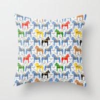 Dala Horse pattern Throw Pillow