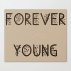 ∞ YOUNG Canvas Print