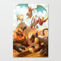Fire Blast Canvas Print
