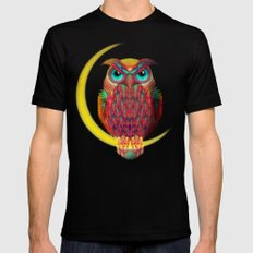 OWL Mens Fitted Tee SMALL Black