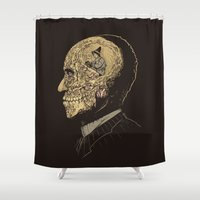 Why zombies want brains Shower Curtain