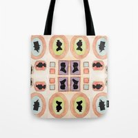 Victorian Silhouette Pattern Tote Bag