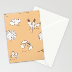 Fruit And Vegetables Stationery Cards