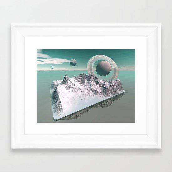 celestial horizon Framed Art Print