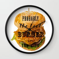 Probably The Best Burger… Wall Clock