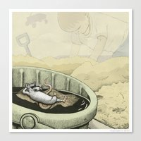 A Rat in a Bucket Canvas Print