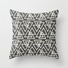 Trilogy Triangles-Dark G… Throw Pillow