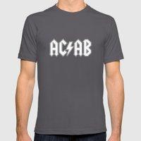 ACAB # BLACK & WHITE Mens Fitted Tee Asphalt SMALL