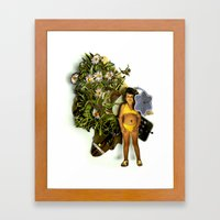 Lill princess | Collage Framed Art Print