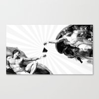 Canvas Print featuring God give Secrets to Man by Ruben Marcus Luz Paschoarelli