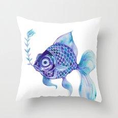 Baby Blue #5 Throw Pillow