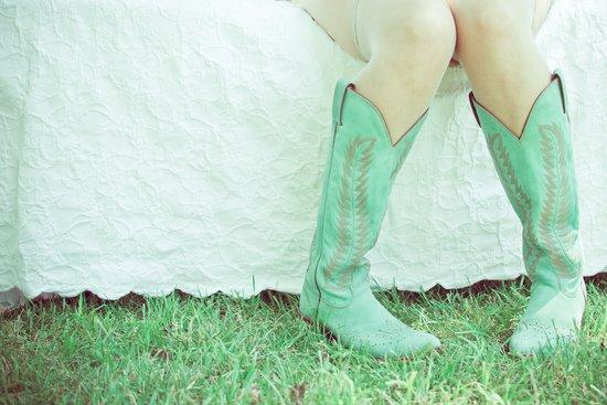 Green Boots Art Print