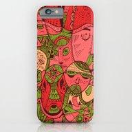 Faces Pattern iPhone 6 Slim Case