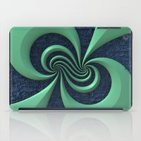 Green on Blue iPad Case