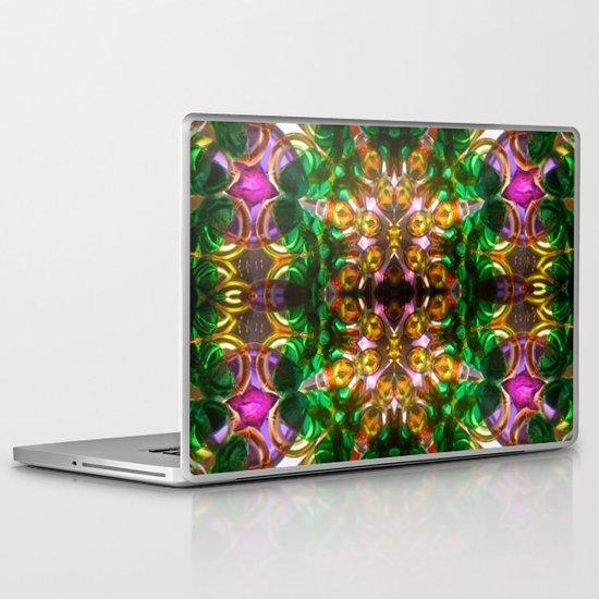 kaleido: green, purple, orange Laptop & iPad Skin