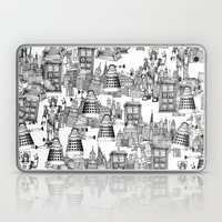 Doctor Who Toile de Jouy   'Walking Doodle'   Black Laptop & iPad Skin
