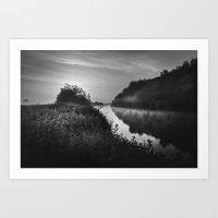 The River Severn Dawn - … Art Print