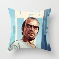 The Berserk , GTA 5 Trevor Throw Pillow