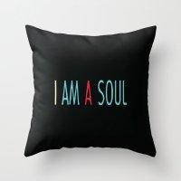 I am a Soul Throw Pillow