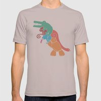 REX's Back Mens Fitted Tee Cinder SMALL