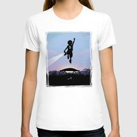 Green Lantern Kid Womens Fitted Tee White SMALL
