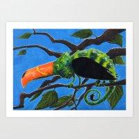 Tukameleon Art Print