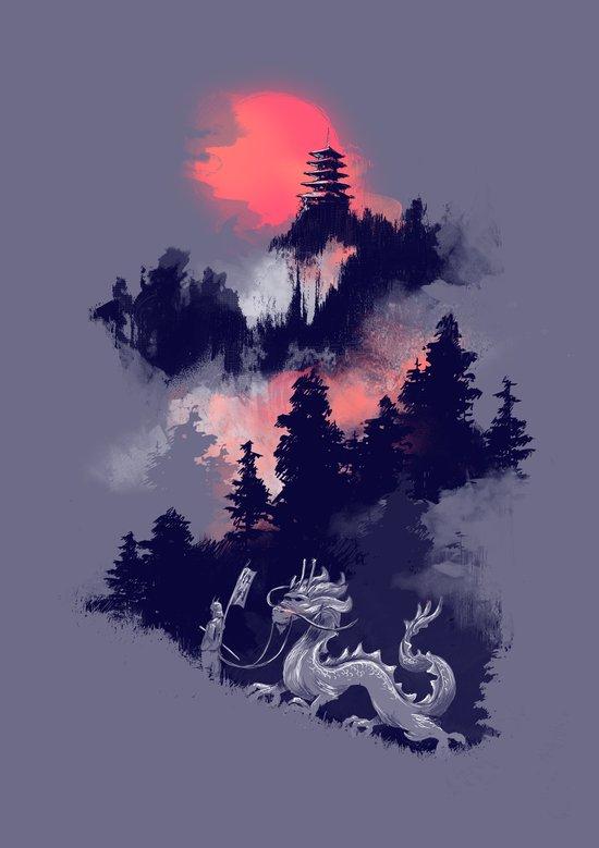 Samurai's life Art Print