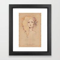 Spring Peaches Framed Art Print