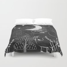 Elephant and Moon Duvet Cover
