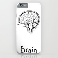 brain iPhone & iPod Cases featuring Brain by Etiquette