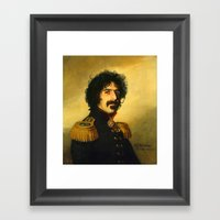 Frank Zappa - replaceface Framed Art Print