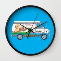 2 Bros. Plumbing Van Wall Clock