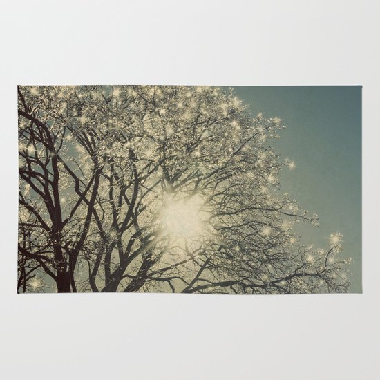 Winter Sparkle Area & Throw Rug