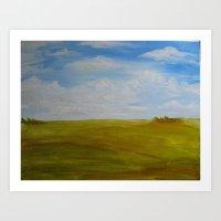 Prairie Scene Print Art Print